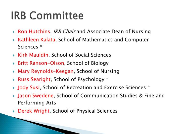 IRB Committee