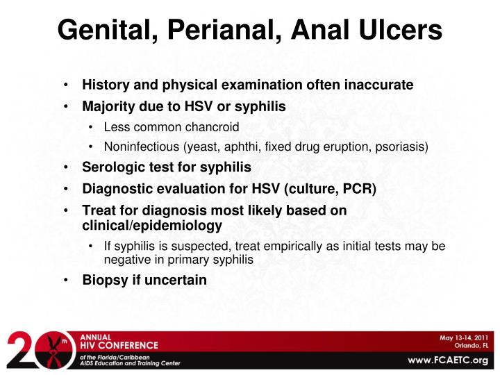 Genital, Perianal, Anal Ulcers