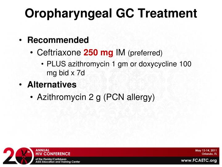 Oropharyngeal GC Treatment