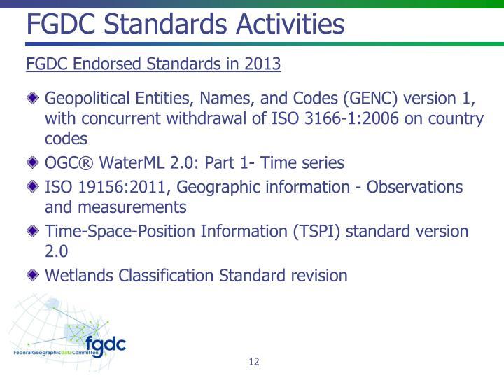 FGDC Standards
