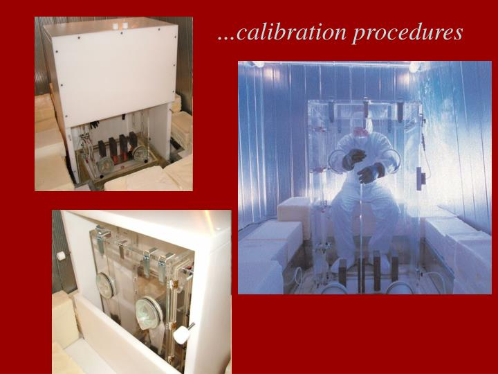 ...calibration procedures