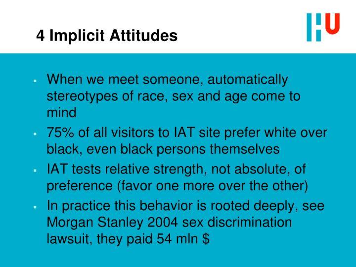 4 Implicit Attitudes