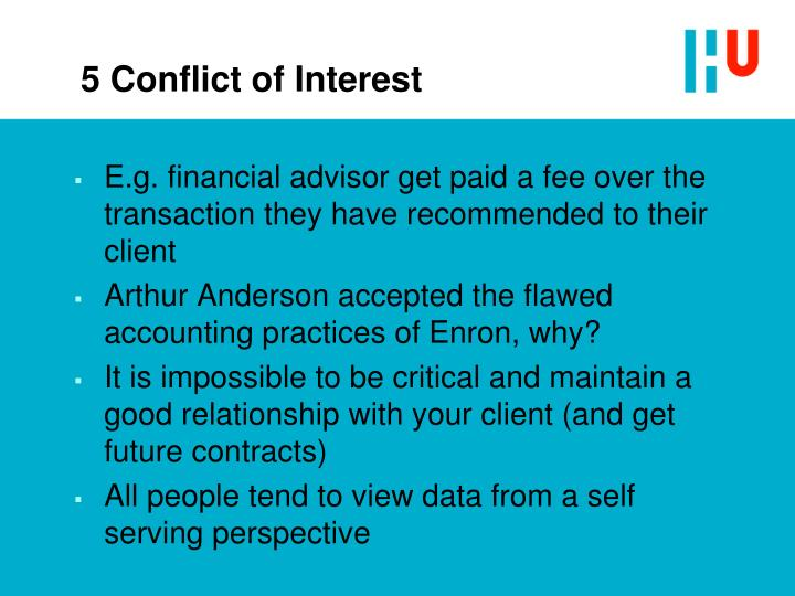 5 Conflict of Interest