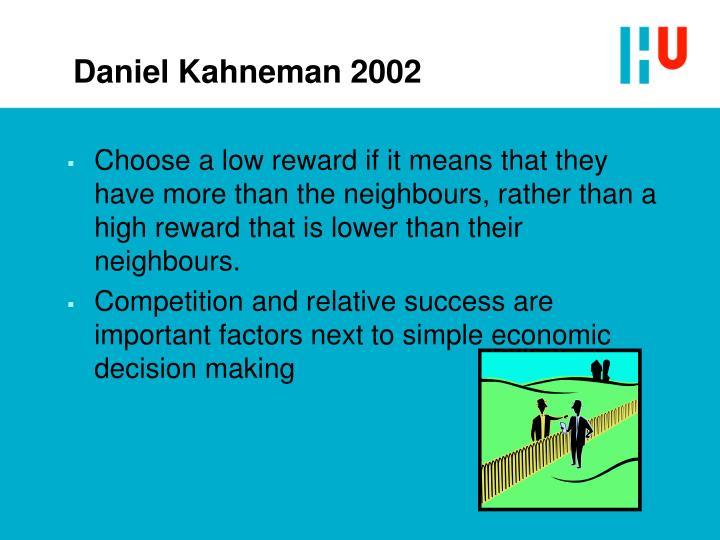 Daniel Kahneman 2002