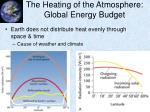 the heating of the atmosphere global energy budget1