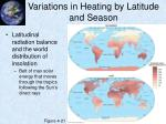 variations in heating by latitude and season3