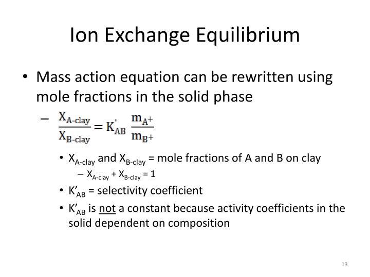 Ion Exchange Equilibrium