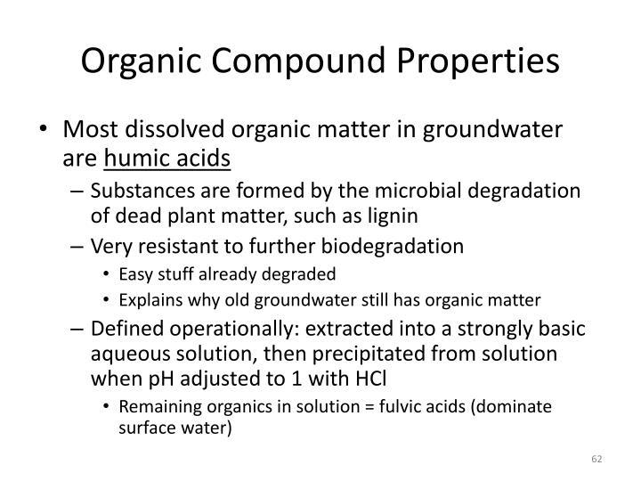 Organic Compound Properties