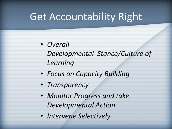 Get Accountability Right