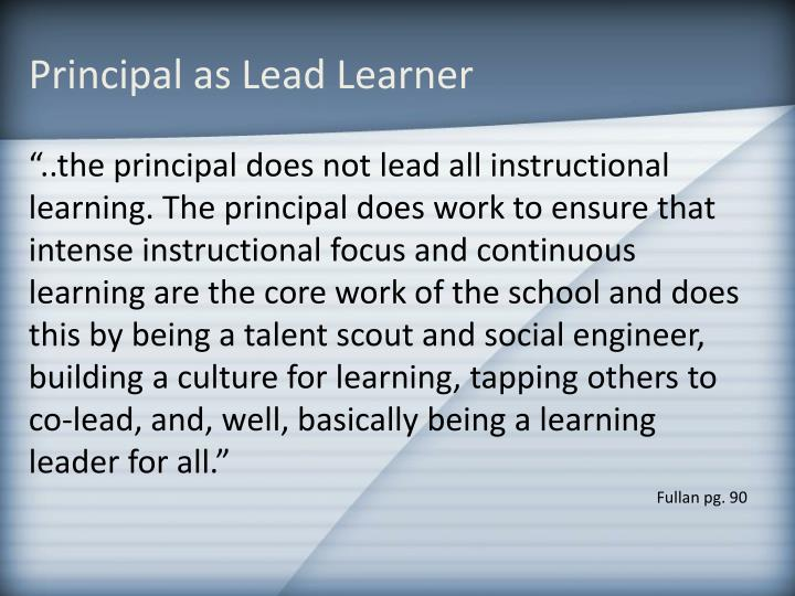Principal as Lead Learner