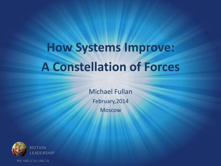 How Systems Improve: