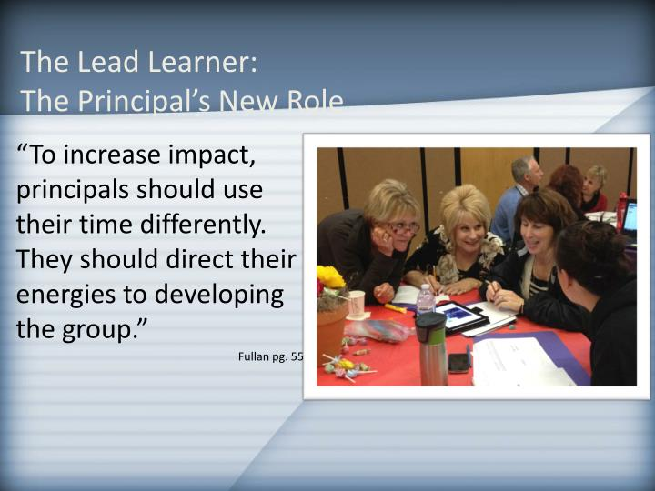 The Lead Learner: