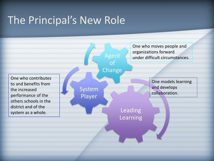 The Principal's New Role