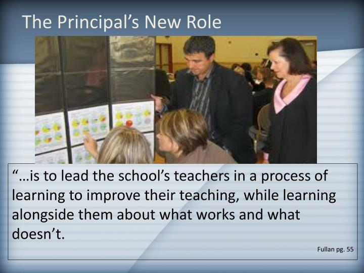The Principal's New Role