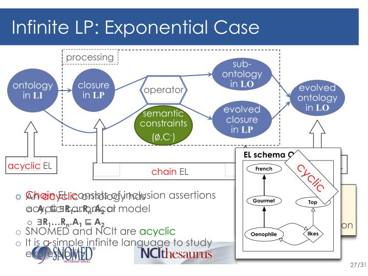Infinite LP: Exponential Case