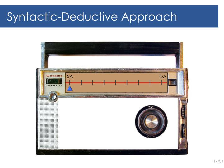 Syntactic-Deductive Approach