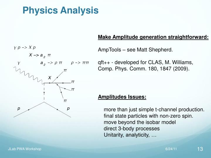 Physics Analysis