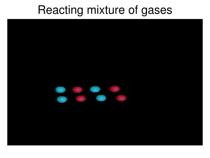 Reacting mixture of gases