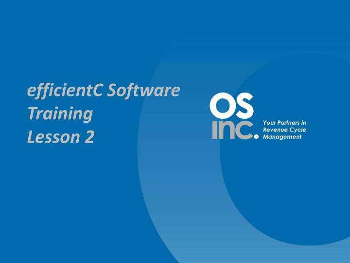 EfficientC Software Training
