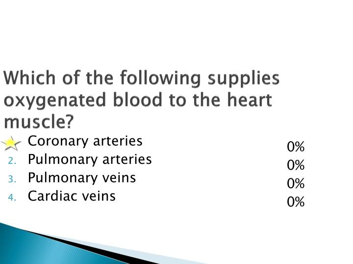 Which of the following supplies oxygenated blood to the heart muscle?