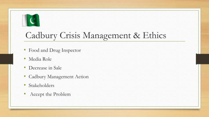 Cadbury Crisis Management & Ethics
