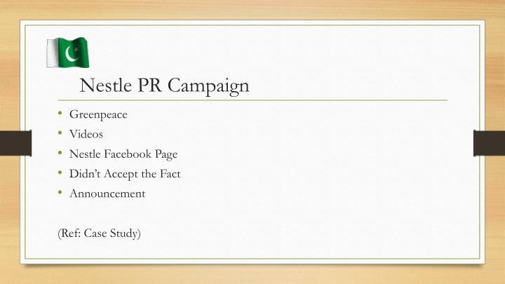 Nestle PR Campaign