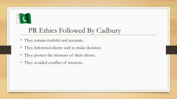 PR Ethics Followed By Cadbury