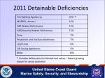 2011 detainable deficiencies
