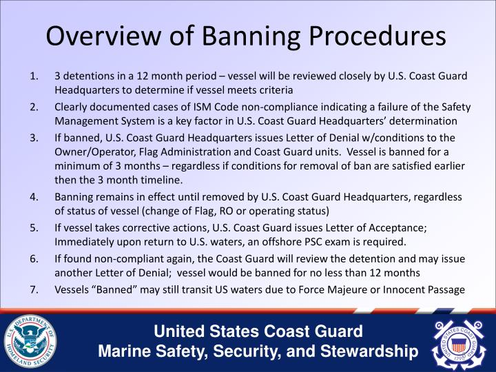 Overview of Banning Procedures
