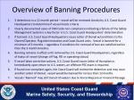 overview of banning procedures