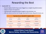 rewarding the best