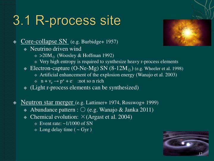 3.1 R-process site