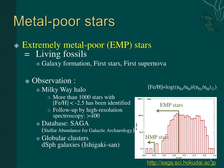 Metal-poor stars