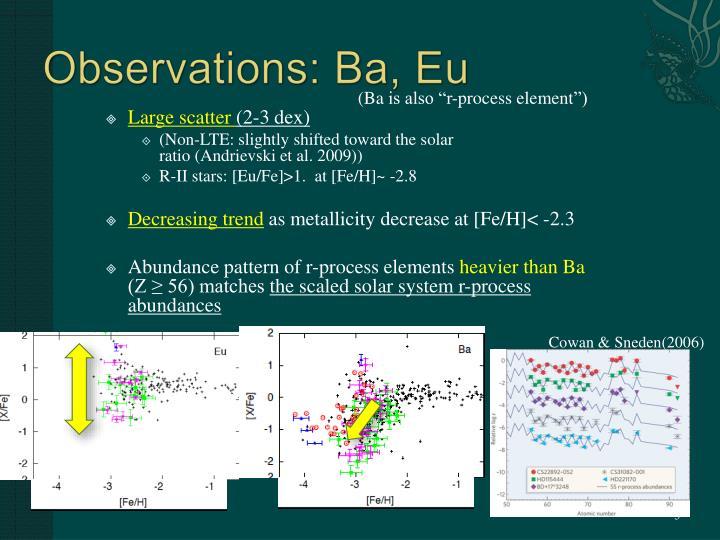 Observations: Ba,