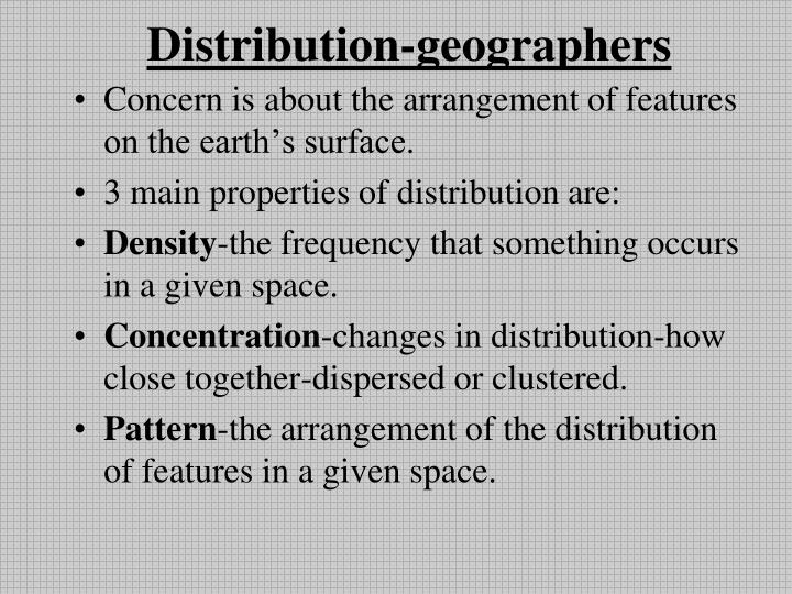Distribution-geographers