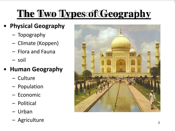 The Two Types of Geography