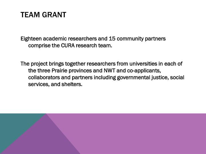 Team grant