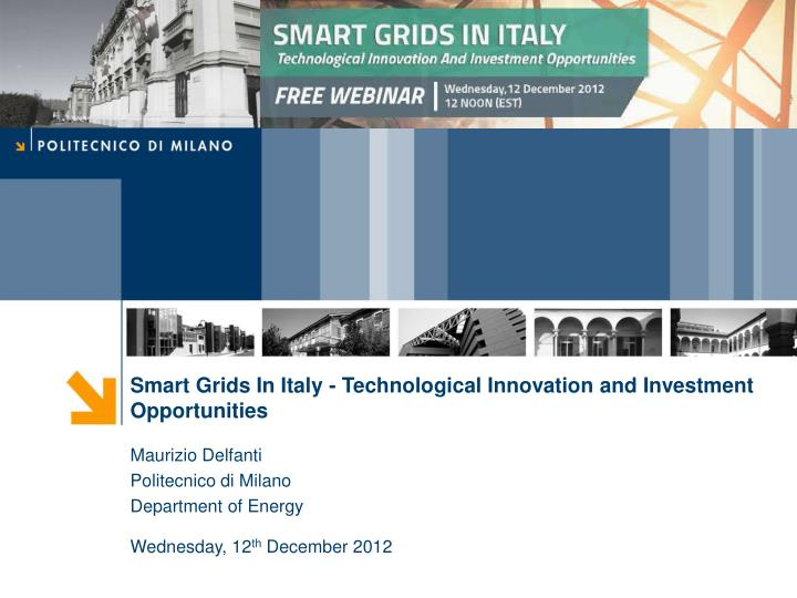 Smart Grids In Italy - Technological Innovation