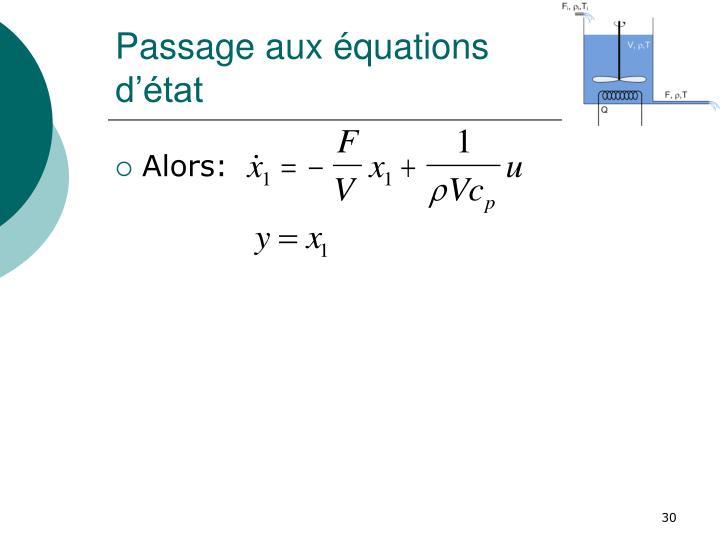 Passage aux équations