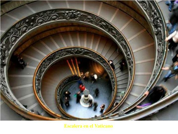 Escalera en el Vaticano