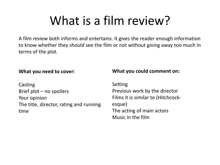 What is a film review?