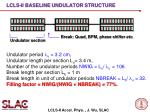 lcls ii baseline undulator structure