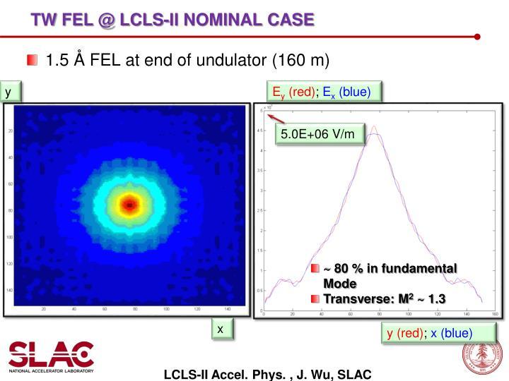 TW FEL @ LCLS-II nominal case