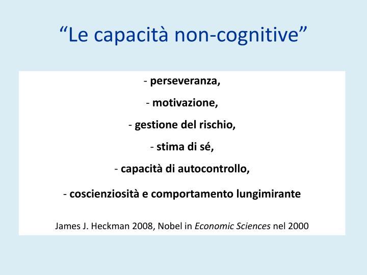 """""""Le capacità non-cognitive"""""""