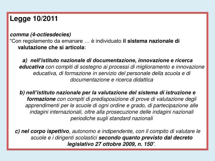 Legge 10/2011