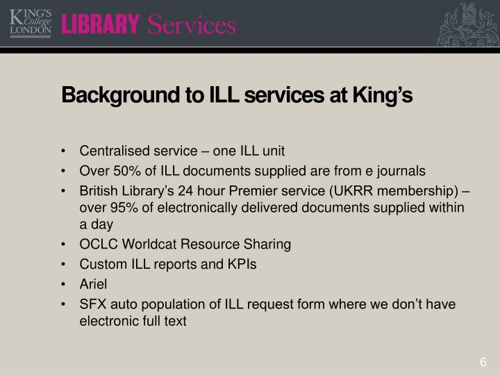 Background to ILL services