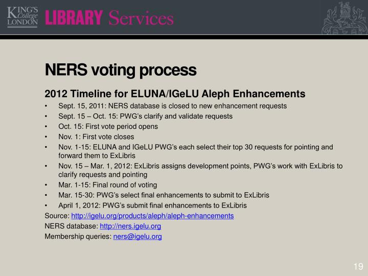NERS voting process