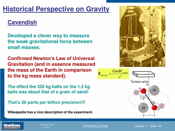 Historical Perspective on Gravity