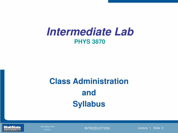 Intermediate lab phys 38701