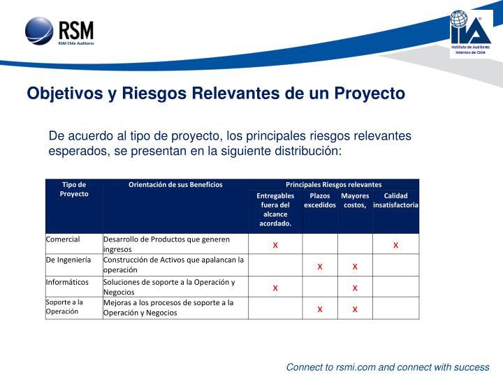 Objetivos y Riesgos Relevantes de un Proyecto